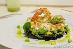 la cocina de aficionado: Ensalada de langostino, mango y aguacate