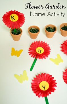 Flower Garden Name Activity
