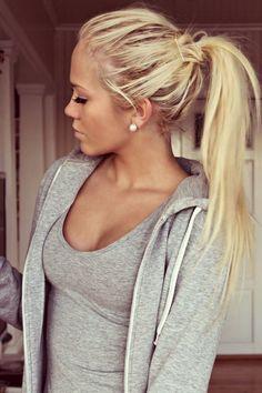 Blonde Ponytail Long Hair hair long hair hair ideas hairdos long hairstyles - All For Hair Cutes Cute Ponytail Hairstyles, Blonde Ponytail, Cute Ponytails, Frontal Hairstyles, Pretty Hairstyles, Blonde Hair, Messy Ponytail, Hairstyles Men, Quick Hairstyles