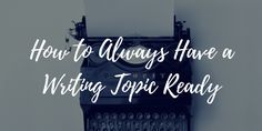 If you've been blogging for any amount of time you've encountered writer's block.  Here are a few tricks you can use to make sure you always have a writing topic ready. https://blog.smamarketing.net/always-have-writing-topic-ready #bloggingtips #writing