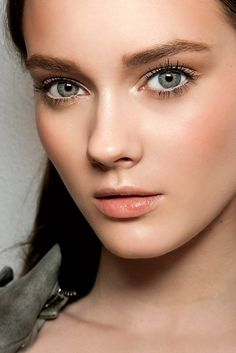 I LOVE this makeup. Clean, fresh, and natural looking. White liner on eyetear and upperlid?