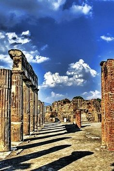 In the Shadow of Mt. Vesuvius, near Naples...  Archaeological Areas of Pompei, Italy