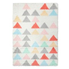 Soften a room from the ground up with the Triangles Shag Area Rug from Pillowfort. This colorful throw rug has a lush texture to pamper your feet. Nursery Rugs, Room Rugs, Area Rugs, Child's Room, Throw Rugs, Throw Pillows, Girls Rugs, Target Rug, Gold Pillows