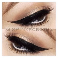 Soft sparkle, bold liner! I loVe it!