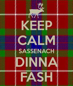 Outlander: Fraser tartan, Sassenach dinna fash. KJ14