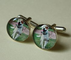 $30 Custom Personalized Photo Cuff Links Great for Grooms, Groomsmen, Fathers, etc.