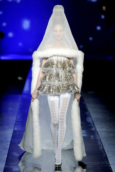 Hennin reference from the Late Middle Ages Fall 2009 Couture - Jean Paul Gaultier