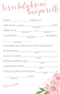 Onneni, unelmain - Hääblogi Wedding Planning List, Wedding Planner, Wedding Goals, Dream Wedding, Wedding Games And Activities, Wedding Invitations, Wedding Decorations, Reception, Wedding Inspiration