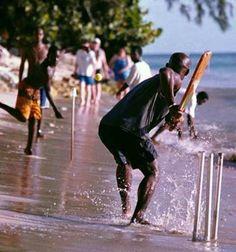 Cricket on the beach, Barbados