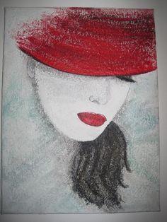 Avans Art - acrylic painting - Woman with a hat Figure Painting, Painting & Drawing, Art Deco Paintings, Sad Art, Cute Wallpaper Backgrounds, Chalk Art, Portrait Art, Female Art, Art Pictures