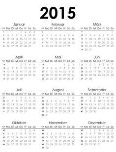 Haushalts-Survival-Blog: Keep it Simple Jahresübersicht 2015 (Ergänzungsmaterial für die Keep it Simple Kalendereinlagen)