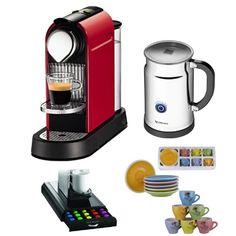 nespresso c111 citiz fire engine red eco nespresso aeroccino plus milk frother accessory kit - Nespresso Aeroccino