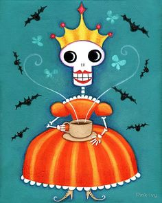 Skelly Queen Has a Cuppa