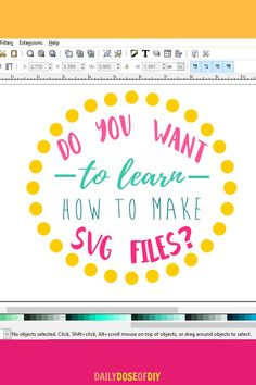 Do you ever wish you knew how to make your own SVG files for Cricut or Silhouette cutting machines? Cricut Air 2, Cricut Help, Cricut Vinyl, Svg Files For Cricut, Free Fonts For Cricut, Cricut Fonts, Inkscape Tutorials, Cricut Tutorials, Cricut Ideas