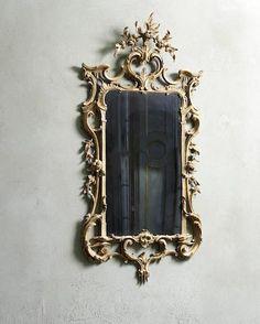 A George III carved giltwood mirror