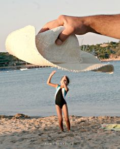 Forced Perspective. Fun Pictures At The Beach