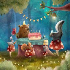 "@childrensillustratorsart: ""Illustration by @olishka_art  . . . . . . #dailyart #childrensbooks #childrensillustration…"" Birthday Congratulations, Happy 2nd Birthday, Illustration Artists, Illustrators, My Books, Christmas Ornaments, Holiday Decor, Animals, Instagram"