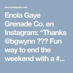 "Enola Gaye Grenade Co. en Instagram: ""Thanks @bgwynn ・・・ Fun way to end the weekend with a #dirtbagworkshop and @dani.des killing it as always 💨 2/4"""