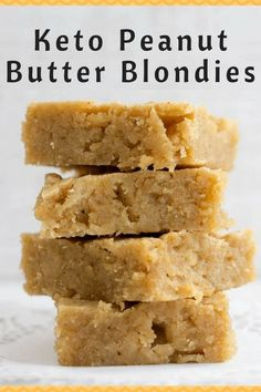 Marilyn Vicari saved to Chocolate Peanut Butter Blondies – Keto, Low Carb, Grain & Sugar Free, THM S – These are an exciting choice when you are craving peanut butter or just want something a little bit different. 8 Easy Keto Diet Friendly D Keto Foods, Ketogenic Recipes, Ketogenic Diet, Low Carb Recipes, Coconut Flour Recipes Keto, Diet Recipes, Keto Desert Recipes, Ketogenic Breakfast, Dukan Diet