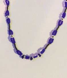 This item is unavailable Beaded Choker Necklace, Crochet Necklace, Lapis Lazuli, Beadwork, My Etsy Shop, Chokers, Gemstones, Check, Jewelry