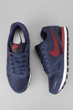 Nike Air Waffle Trainer Sneaker - Tags: sneakers, low-tops, mid, blue, red: