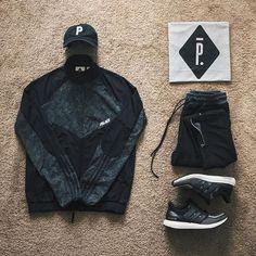 WEBSTA @ ldn2hk - Mindin my P's. #outfitgrid @outfitgrid @dennistodisco // Cap: #properlbc // Jacket: #palaceskateboards x #adidasoriginals // Tee: #pigalleparis // Pants: #humanco // Sneakers: #adidas #ultraboost