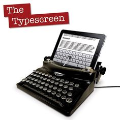 """The Typescreen is an April Fool's, which turns your iPad into a typewriter (cool idea!). """"As an officially licensed Apple product, the Limited Edition Typescreen™ offers all the style and quality that you'd expect from Apple with the playful design and innovation expected from Spinning Hat. Compatible with both the iPad and iPad 2, the Typescreen™ will help add a """"touch"""" of class and sophistication to any living room."""""""
