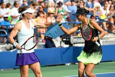 Doubles action on Day 5   September 2, 2016 - Samantha Stosur and Shuai Zhang in action against Ekaterina Makarova and Elena Vesnina during the 2016 US Open at the USTA Billie Jean King National Tennis Center in Flushing, NY.