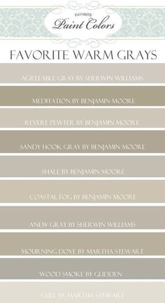 Warm Gray Paint Colors