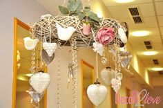 Natural or rustic chic wedding reception decoration S♥M by Decor2Love:-) Wedding hanging decoration with birds