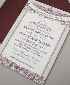 Art Nouveau Wedding Invitation Template  Invitation Templates