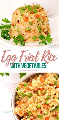Simple, quick and easyegg fried rice recipe! Makes a wonderful side dish but tastes just as great as a meal on its own too!  #easypeasycreativeideas #rice #friedrice #sidedish #vegetarian #vegetarianrecipes