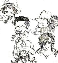 One piece character clothes swap - Trafalgar D. Water Law as Monkey D. Luffy, Roronoa Zoro as Sir Crocodile, Sanji as Dracule Mihawk Hawkeyes, Gekko Moria as Tony Tony Chopper, and Usopp as Bartholomew Kuma One piece