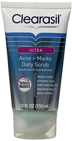 Clearasil Ultra Acne Marks Acne Treatment Face Scrub, 5 Ounce ** Learn more by visiting the image link. (This is an affiliate link and I receive a commission for the sales) Scar Removal Cream, Acne Scar Removal, How To Clear Pimples, Home Remedies For Acne, Acne Remedies, Natural Acne Treatment, Acne Face Wash, Acne Marks, How To Apply Mascara