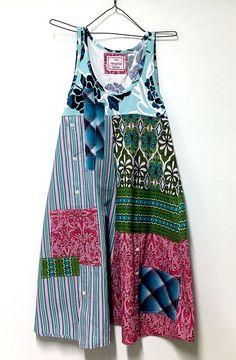 Boho Gypsy Sundress Sleeveless Dress Upcycled Tank Top Boho