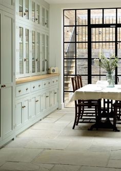 Beautiful floor to ceiling kitchen cabinets