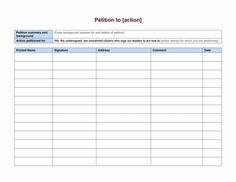 Petition template 07 | petition templates | Pinterest