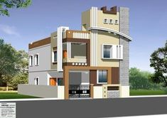 Independent House Front Inspirations And Attractive Elevations Of Houses Pictures - Nugadesigns House Outer Design, House Front Wall Design, Single Floor House Design, House Outside Design, Village House Design, Modern House Design, Modern Houses, 2 Storey House Design, Duplex House Plans