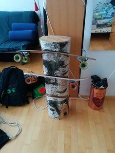 personalised skateboard holder skateboard rack skateboard stand house pinterest wohnung. Black Bedroom Furniture Sets. Home Design Ideas