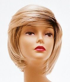 Short Blonde with Roots Wig - Quality Kanekalon Synthetic Hair Loss Replacement Natural Looking Fashion for Ladies & Girls by Wigs Discount Outlet. $54.95. No pins or tape required. No Frizzing on Rainy & Humid Days * Look Years Younger. Fits Average size Head with adjustable straps. Cool, Comfortable & Light Weight for All Day Wear. Instantly Change Hair Style and Color. *You will be amazed by the quality. Wearing it, it can bring you more confidence, and more compl...