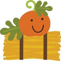 Pumpkin On Hay Bale SVG file for scrapbooking cardmaking pumpkin svg file pumpkin svg cuts
