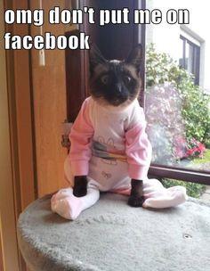 OMG don't put me on Facebook!
