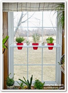 """Our Little Acre: """"Updated Lowe's Creative Ideas Project: Swing Shelf Planter"""""""