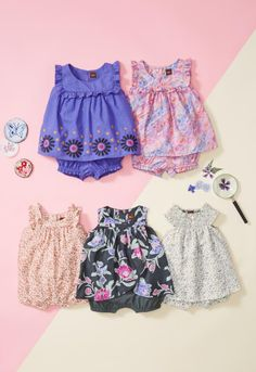 Easy outfits with a whole lot of style. Shop Tea Collection's rompers and two-piece outfits.