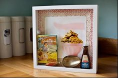 cute way to store kitchen antiques