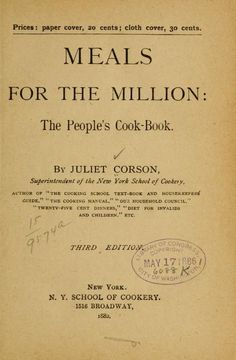 Meals for the million: the people's cook-book
