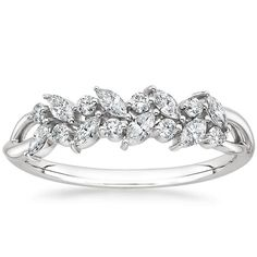 18K White Gold Jardinière Diamond Ring from Brilliant Earth