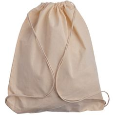 100% Cotton Drawstring Bag Natural LARGE ($1.45) ❤ liked on Polyvore featuring bags, handbags, accessories - bags, day pack backpack, drawstring backpack, cotton drawstring bags, cotton purse and brown bag