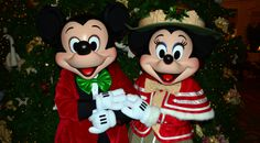 Grand Floridian Resort Christmas Characters Mickey and Minnie and Christmas Decor