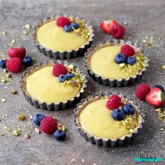 Vegan Custard Tarts When I started cutting out dairy, one of the many things I stopped eating was custard, and it's one of the many things I really missed! I had no idea how easy…